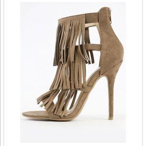 NWOT Never worn! Sexy fringe heels